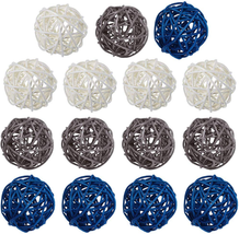 15 Pcs Wicker Rattan Balls Table Wedding Party Christmas Decoration Deco... - $16.62