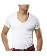 Mr. Davis Men's Bamboo Viscose Tailored Cut V Neck Undershirt, Medium, W... - $71.92