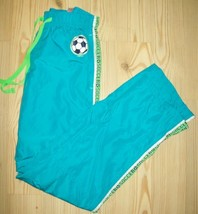 Justice Girls Pants Size 12 Blue Soccer Athletic Pants Drawstring Casual... - $17.81