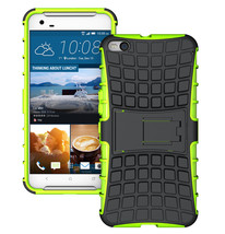 Duty Dual Layer Hybrid Shockproof Protective Cover Case for HTC One X9 - Green  - $4.99
