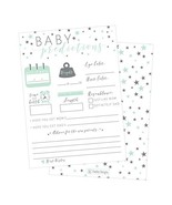 50 Mint Stars Advice and Prediction Cards for Baby Shower Game, New Mom ... - $13.88