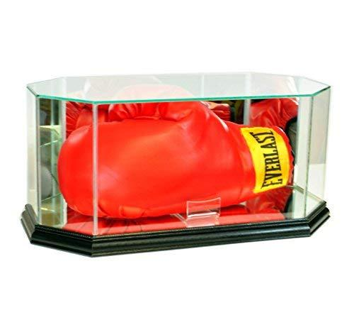 Octagon Glass Full Size Boxing Glove Display Case (Black)