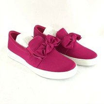 Michael Kors Womens Slip On Sneakers Bow Satin Hot Pink Size 6 - $62.88