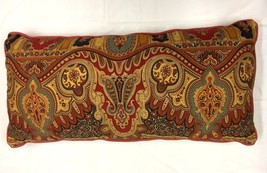 NOBLE EXCELLENCE Decorative Bed PILLOW Moroccan PAISLEY Rectangular12x26... - £14.59 GBP