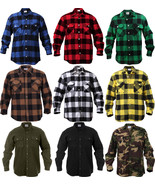 Extra Heavyweight Brawny Buffalo Plaid Flannel Long Sleeve Shirt - $36.99+