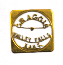 Gragg's Valley Falls Kansas Square Trade Token Cut Out 24mm Jefferson Co... - $29.69