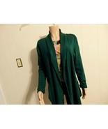 Wome M L XL 12 14 16 Cardiga Sweater Coat Jacket Knit Shawl Long Open Gr... - $23.77