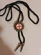 Knights Templar Bolo Necklace Tie - Red Cross With Background  image 2