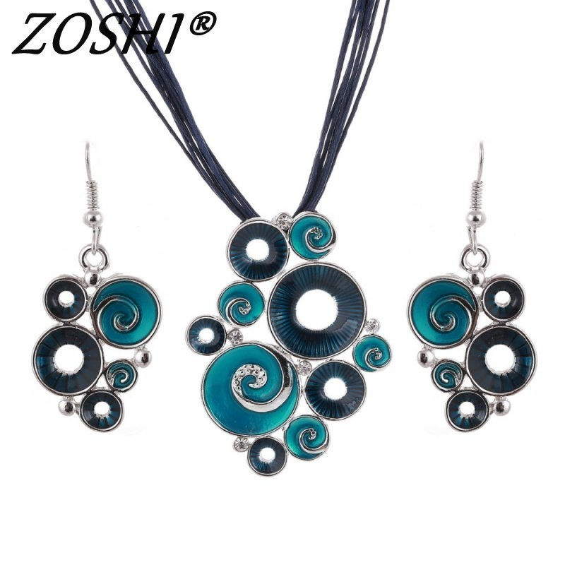 Primary image for Fashon Colorful Enamel African Jewelry Sets For Women Gem Multilayers