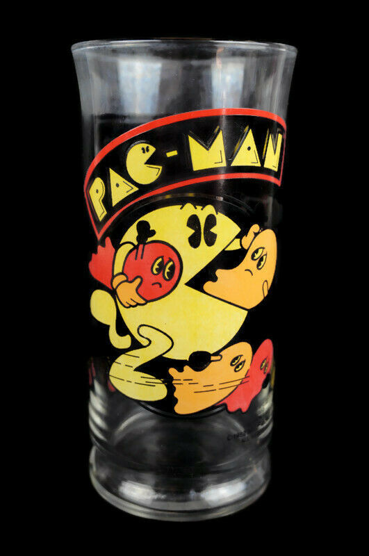 Primary image for Vintage Pac-Man 1982 Bally Midway Glass Cup 16oz