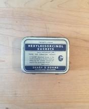 Vintage 50s Hexylresorcinol Sucrets 24 lozenge tin packaging image 1