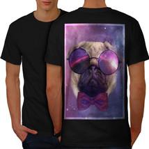 Cosmic Glasses Pug Shirt Space Dream Men T-shirt Back - $12.99+