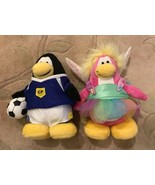 """CLUB PENGUIN PLUSH-Lot Of 2- CP Soccer Player Fairy Approx 8"""" Disney New... - $18.81"""