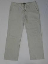 Banana Republic Men Pant Classic Fashion White Blue Pin Stripe Cotton Si... - $43.80