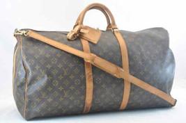 LOUIS VUITTON Monogram Keepall Bandouliere 60 Boston Bag M41412 Auth SA016 - $560.00