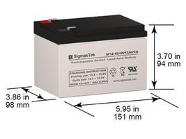 Kaufel 2007 SLA battery Replacement By SigmasTek - $31.57