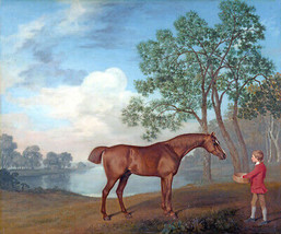 Pumpkin With A Stable Lad Boy Feeding Horse By George Stubbs Paper Repro Full - $10.96+