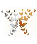 3D Butterflies, Hearts & Stars Acrylic Mirror Decals, Home Décor, Wall S... - $16.66+