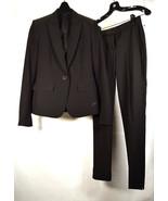 Theory Womens Suit 1 Button Blazer 1 Pants Set of 2 Black 00  - $178.20