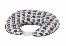 Bacati Elephants Unisex Nursing Pillow Cover Made 22 x 22 x 7 inches, Grey - $36.09