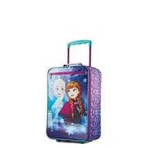 18 Inch Upright Kids Luggage Softside Rolling Suitcase Wheeled Bag Froze... - $55.98