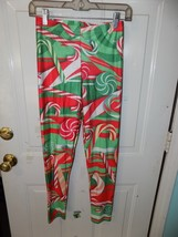 Ugly Sexy Christmas Leggings Candy Cane Print One Size Women's EUC - $15.39