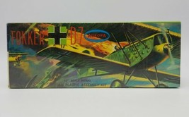 1958 Aurora 1/4 inch Scale WWI Fokker D-7 Airplane Model Kit **Factory S... - $49.38