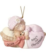 """Precious Moments"""" First Christmas 2018"""" Baby Girl Ornament, Multicolor - $51.03"""