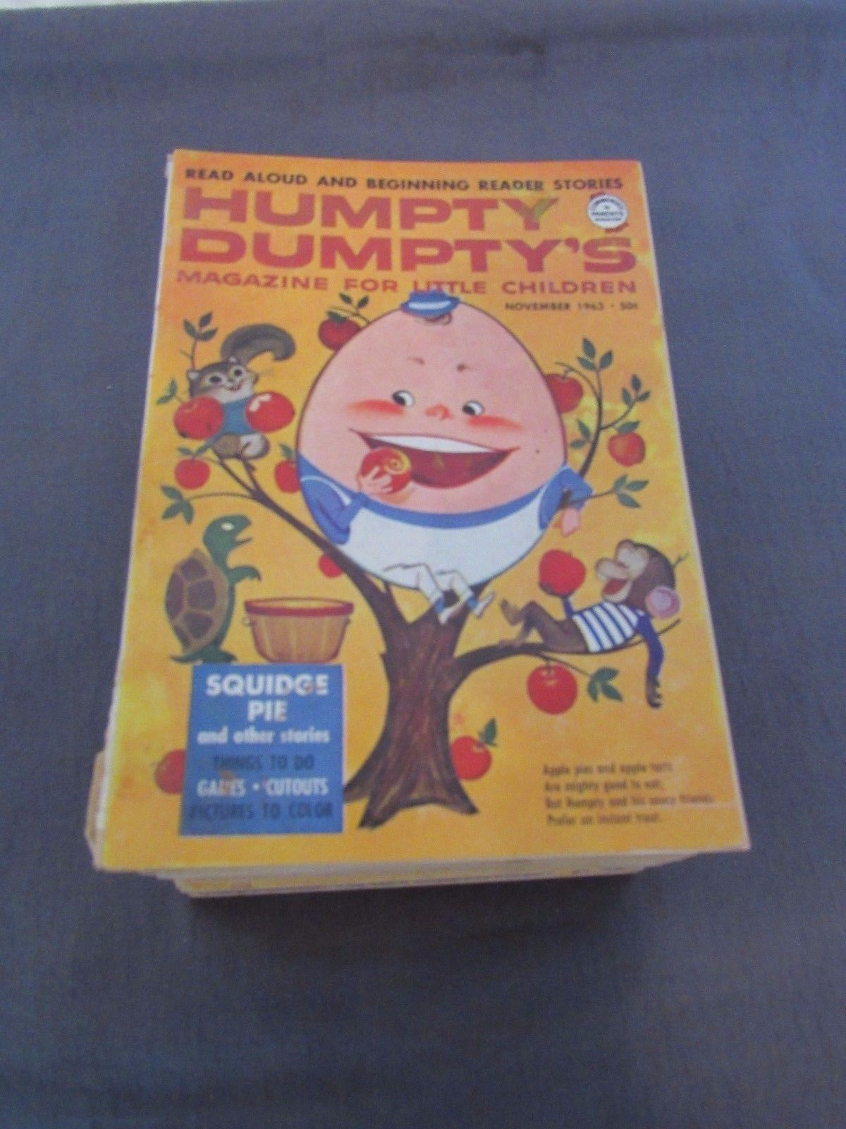 Vintage Lot of 10 Humpty Dumpty's Magazine for Little Children 1956 - 1965