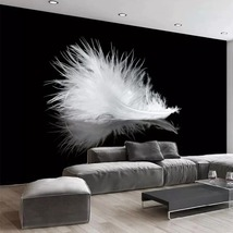 """3D Wallpaper """"White feather"""" - $35.00+"""