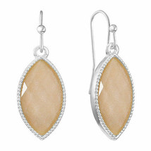 Liz Claiborne Women's Opalescent Drop Earrings Silver Tone New - $14.84