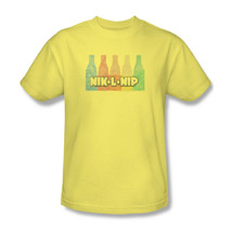 Nik-L-Lip T-shirt retro vintage style 80s yellow cotton distressed tee DBL151 image 2