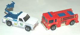 (2) 1974 1976 Larry's 24hr Towing Truck, Fire Eater #51 Hong Kong Blackw... - $92.08