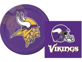 Minnesota Vikings  Luncheon Napkins & Plates Party Kit for 8 NFL Tailgate  - $10.84