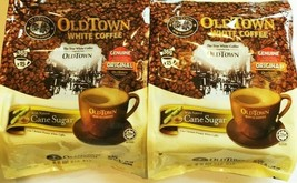 Old Town 3-In-1 Instant Premix White Coffee with Cane Sugar 15 sticks x ... - $29.69