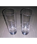 Set of 2 Courvoisier Tall Etched Glasses Made in France Bar Liquor Advertising - £3.75 GBP