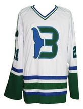 Custom Name # Whalers Retro Hockey Jersey New Sewn White Macdermid #21 Any Size image 1