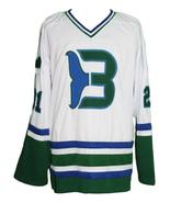 Custom Name # Whalers Retro Hockey Jersey New Sewn White Macdermid #21 A... - $54.99+