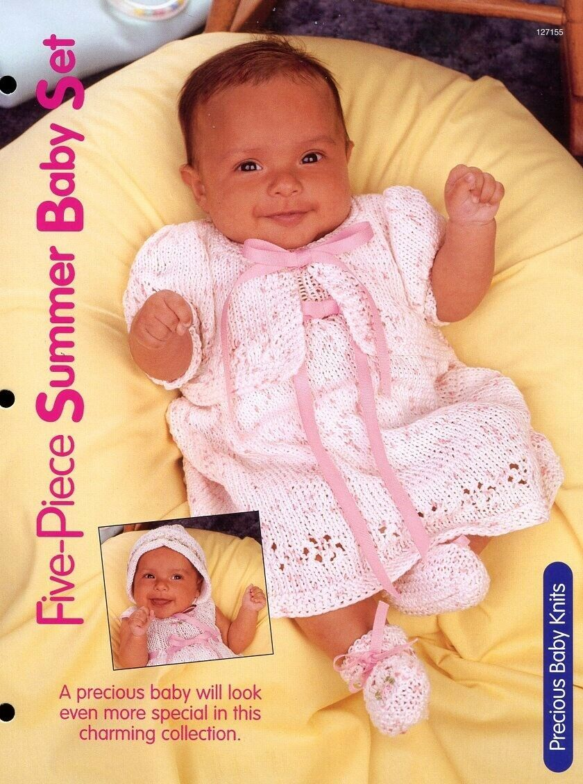 Primary image for Five-Piece Summer Baby Set HoWB Knitting Pattern Leaflet