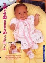 Five-Piece Summer Baby Set HoWB Knitting Pattern Leaflet - $3.57