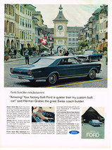 Vintage 1966 Magazine Ad Fords Quiet Man Visits Switzerland To Compare Autos - $5.93