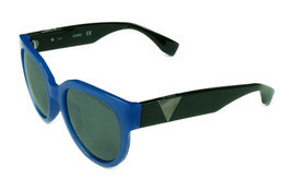 Brand New Guess Womens - GU7439 90A - Shiny Blue/Black w/ Smoke Lens Sun... - $29.65