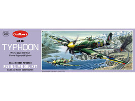 Model Airplane Kit WW II Guillow's Hawker MK 1B Typhoon  GUI-906 - $17.06