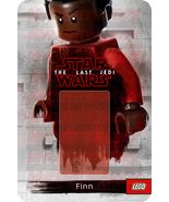 Star Wars Finn The Last Jedi Custom Lego Card Back w/Blister - No Minifi... - $5.00