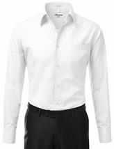 Berlioni Italy Men's Regular Fit Barrel Cuff Solid White Dress Shirt - 2XL image 2