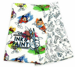 Disney Parks Ink and Paint Sketch Characters Set Of 2 Kitchen Dish Towels NEW - $24.74