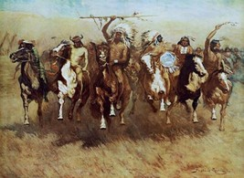 Victory Dance by Frederic Remington Native American Indians Western Print 18x24 - $48.51