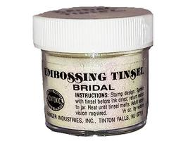 Ranger Embossing Powder, Embossing Tinsel, Bridal