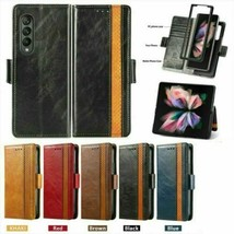 For Samsung Galaxy Z Fold 3 5G Leather Wallet Flip back Case Cover  - $96.52