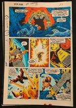 Iron Man #114 1978 Marvel original color guide art Avengers Battle Arsenal! - $69.76